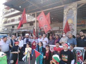الجبهة الديمقراطية لتحرير فلسطين تقيم وقفة تضامنية في الشمال